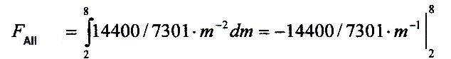 Integral over the probability function